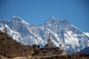 Massive Lhotse and Nuptse South Face with Everest summit. Photo: Ujjwal Rai