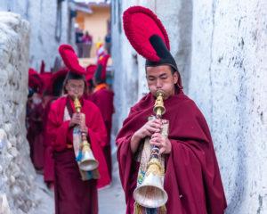Monks in Lomanthang. Photo: Samde Sherpa