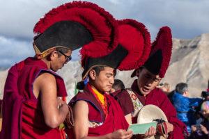 Monks reciting holy text at last day of Tiji festival. Photo: Samde Sherpa