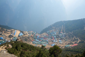 Namche Bazar from the top of the village. Photo: Ujjwal Rai
