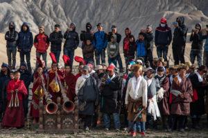 Royal family attending last ritual of Tiji festival. Photo: Samde Sherpa