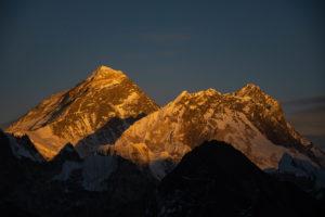 Sunset over Mount Everest. Photo: Ujjwal Rai
