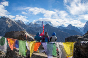 World's tallest mountain Everest playing hide and seek, taken from Gokyo Ri. Photo: Ujjwal Rai
