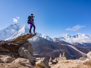 View of Mt. Ama Dablam 6,812 m, Kangtega 6,782 m and Thamserku 6,223 m. This one's on the way to Nangkartsang 5,100 meter, a view point situated just above Dingboche village which is at 4,400 meters. Photo: Ujjwal Rai