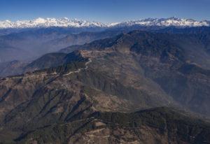 View of Rolwaling mountains range from the plane. Taken while heading towards Lukla. Photo: Ujjwal Rai