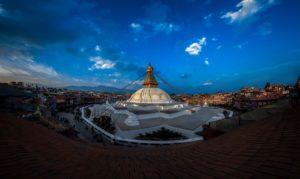 Boudha Stupa (Khasti Mahachaitya) one fine evening. Photo: Photo Khichuwa