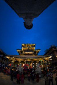 Dattatreya Temple At night , Bhaktapur. Photo: Photo Khichuwa