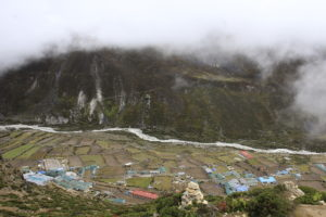 Dingboche village, a place for the acclimatization for many trekkers, located at 4410m. Photo: Sharan Karki