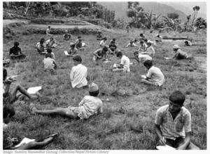 Lok Sewa Ayog Exams in 1975, Lamjung - Old Photos Of Nepal