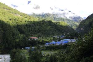 Phakding village, bank of Dudhkoshi river 2650m. Photo: Sharan Karki