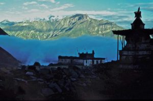 Stupa at Jharkot, Mustang region during 1978. Photo: Ed van der Kooy