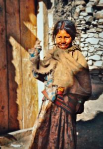 Girl at Jharkot, Mustang 1979. Photo: Ed van der Kooy