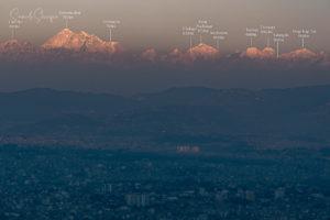 Mount Everest seen from Kathmandu during clear weather. Photo: Samde Sherpa