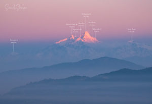 Manaslu range as seen from Kathmandu (Chandragiri Side) Photo: Samde Sherpa