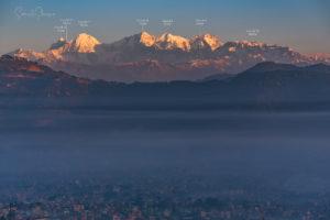 Beautiful Ganesh Himal range showing its beauty at Kathmandu valley. Photo: Samde Sherpa