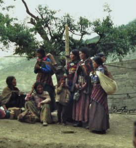 Women gatherings during Yartung Festival, Muktinath, Mustang in 1978. Photo: Ed van der Kooy