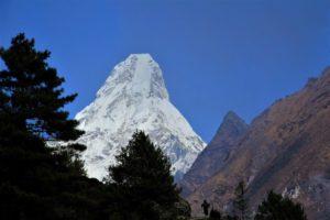The giant Ama Dablam seen near Namche. Photo: Sharan Karki