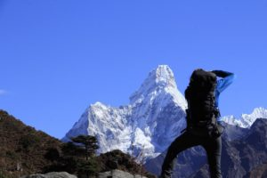 The view of Ama Dablam from Everest View Point. Photo: Sharan Karki