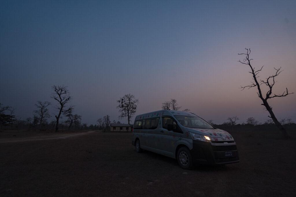Holi in Bardiya- Toyota Hiace