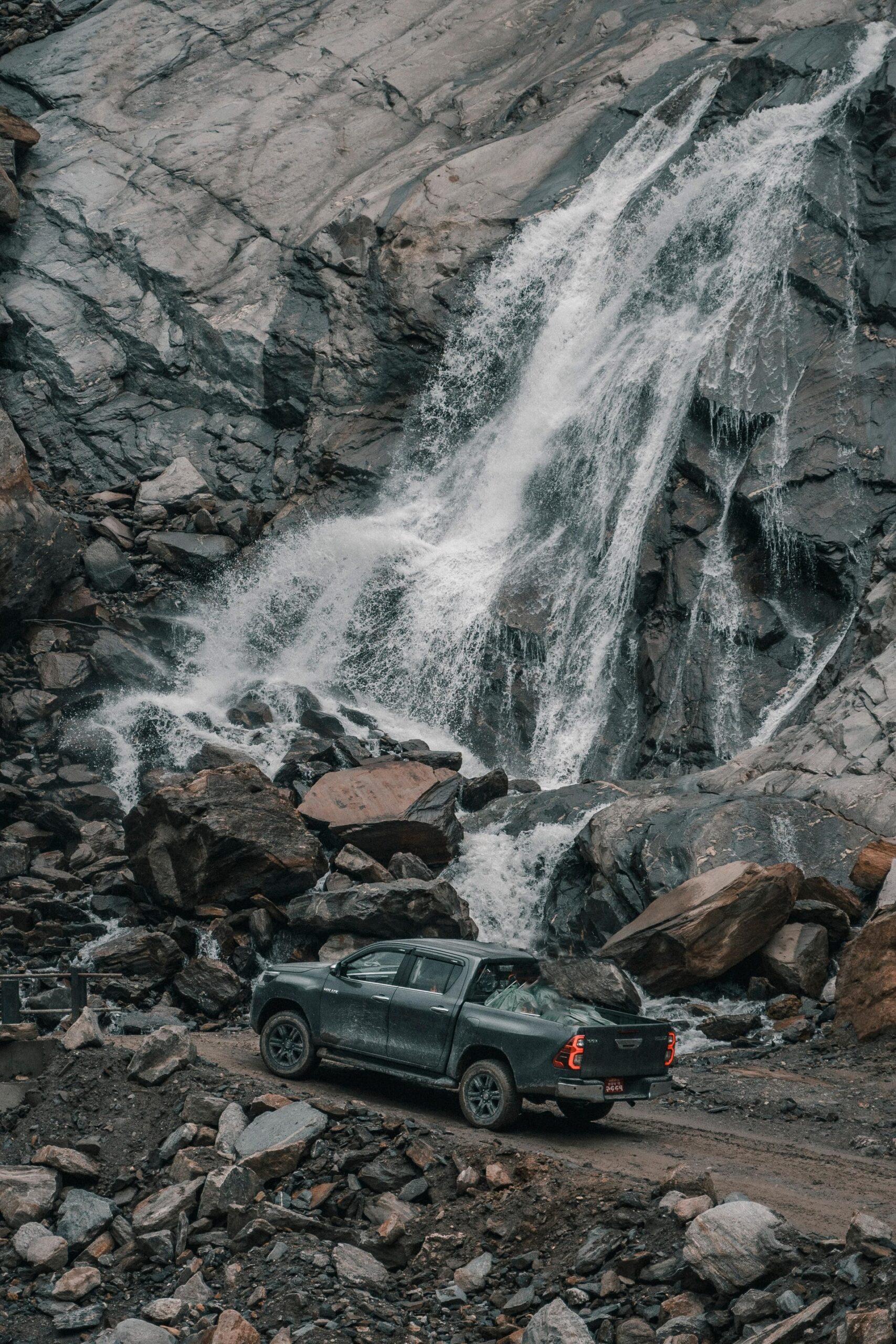 Toyota Hilux, Rupse Waterfall, Mustang, Journey to Mustang during Lockdown, Nepal8thwonder