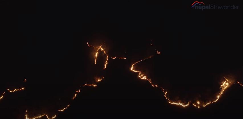Wildfire in Terai